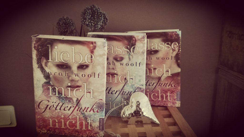 """Buchrezension zu der Reihe """"Götterfunke"""" von Marah Woolf (Dressler Verlag)"""