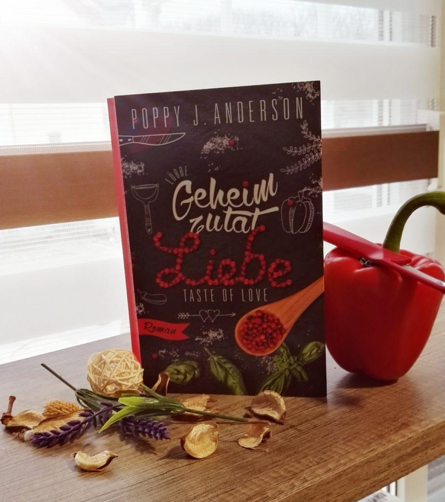 """Buchrezension zu """"Geheimzutat Liebe / Taste of Love"""" von Poppy J. Anderson (Bastei Lübbe Verlag)"""